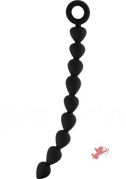 Shots Silicone Chain Of Anal Beads Waterproof Black 11 Inch