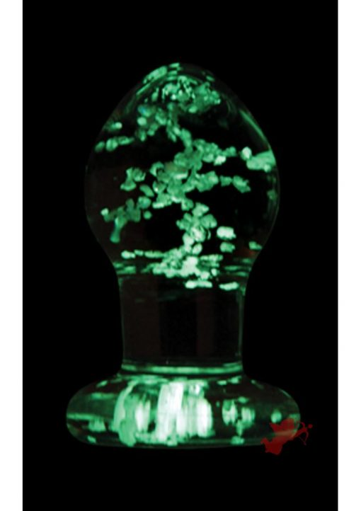 Firefly Glass Glow In The Dark Plug Small Clear 2.5 Inch