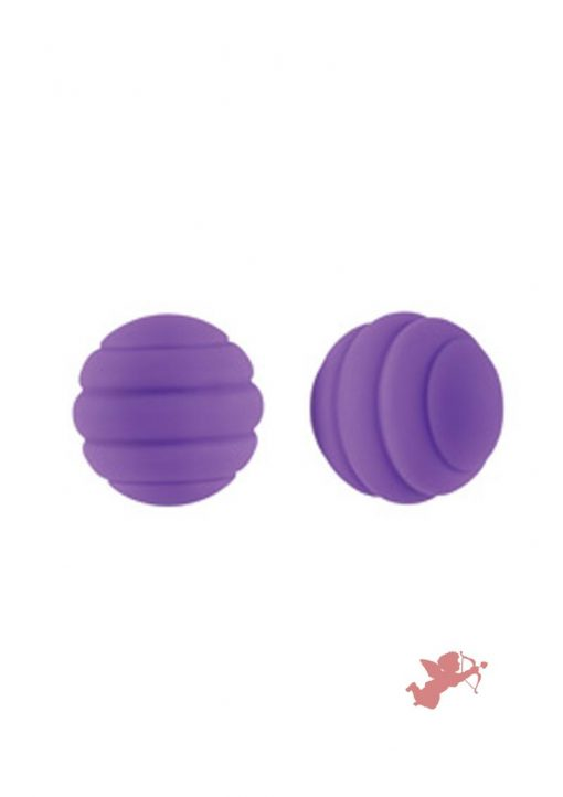 Lush Ivy Silicone Coated Steel Balls Waterproof Purple 1 Inch