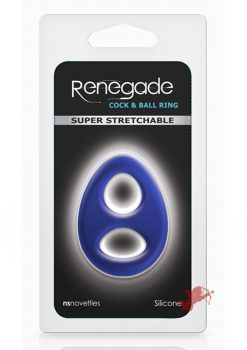 Renegade Romeo Soft Silicone Cock And Ball Ring Blue