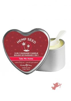Hemp Seed Heart 3 In 1 Massage Candle Take Me Home