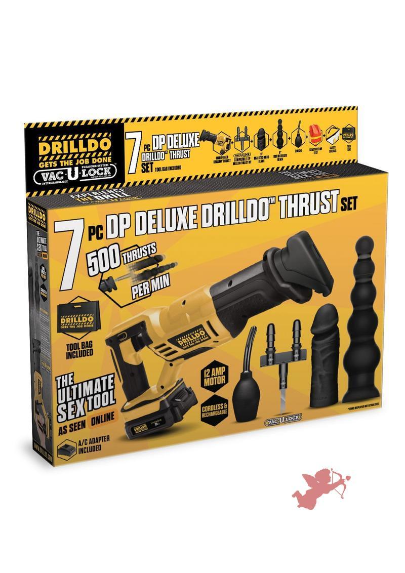 Drilldo Double Penetration Deluxe Thrust 7 Piece Set