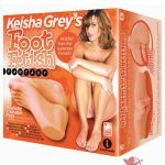 Keisha Grey's Foot Fetish Fantasy Realistic Fuckable Feet With Two Separate Channels Flesh 9 Inch