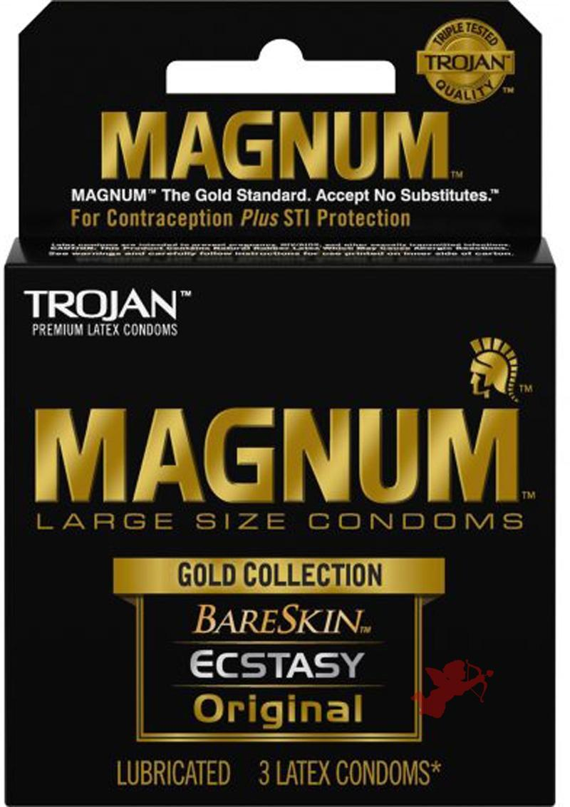 Trojan Magnum Gold Collection 3 Pack