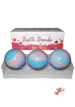 Multi Color Lavender Bath Bomb 3 Pack