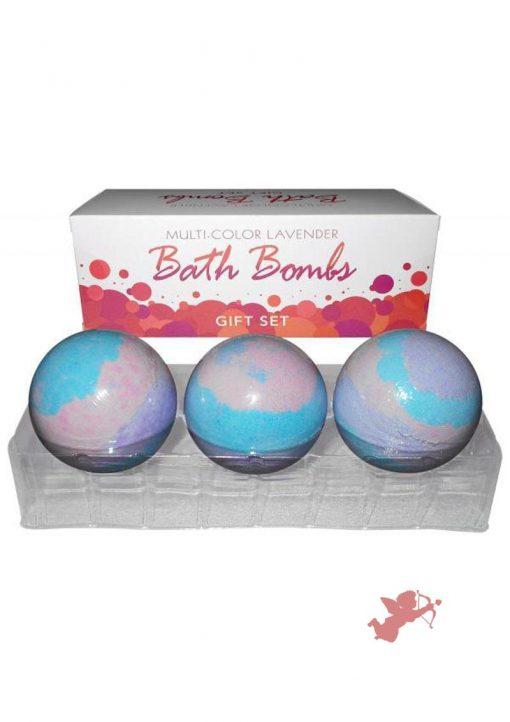 Multi Color Lavender Bath Bomb 3 Pack