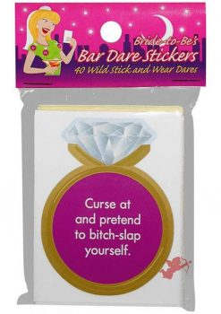 Bride To Be Bar Dare Stickers