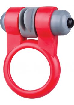 Screaming O Sport Vibrating Cockring Waterproof Red 6 Each Per Box
