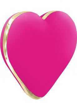 Rianne S USB Rechargeable Silicone Heart Vibe Rose