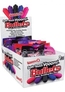 Soft Touch Vooom Bullets Reuseable Latex Free Waterproof Assorted Colors 20 Each Per Box