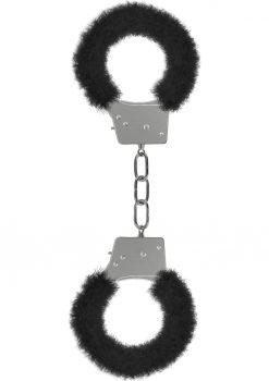 Ouch! Beginner`s Furry Handcuffs Black