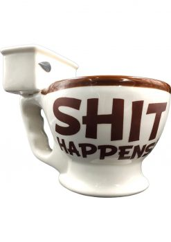 Shit Happens Toilet Coffee Mug With Poop Inside Holds 10 Ounces