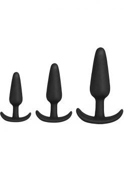 Mood Naughty 1 Trainer Silicone Anal Plug Kit 3 Sizes Black