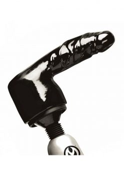 Master Series Thunder shaft Penis Wand Attachment Black 6.5 Inch