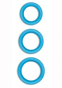 Firefly Halo Silicone Cock Ring Blue Small