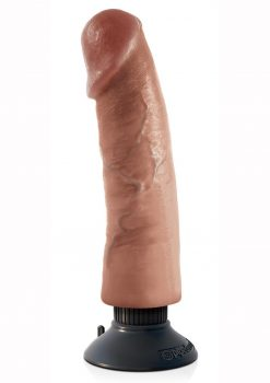King Cock Vibrating Cock Waterproof Tan 9 Inches
