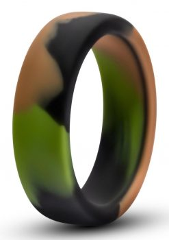 Performance Silicone Camo Cock Ring Green Camouflage 1.5 Inch Diameter