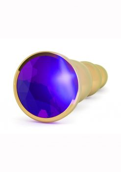 Rich R3 Butt Plug With Sparkling Sapphire Gold 4.8 Inches