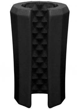 OptiMale Truskyn Silicone Stroker Beaded Black 4 Inch