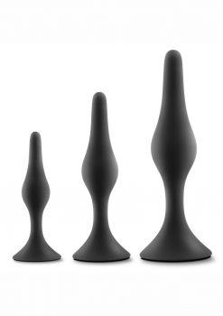 Luxe Beginner Silicone Plug Kit Black 3 Sizes
