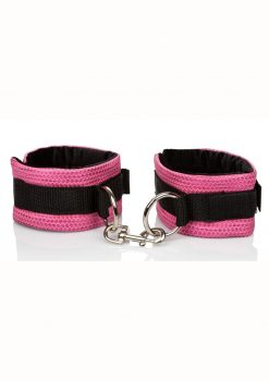 Tickle Me Pink Universal Cuffs Velcro Adjustable Pink