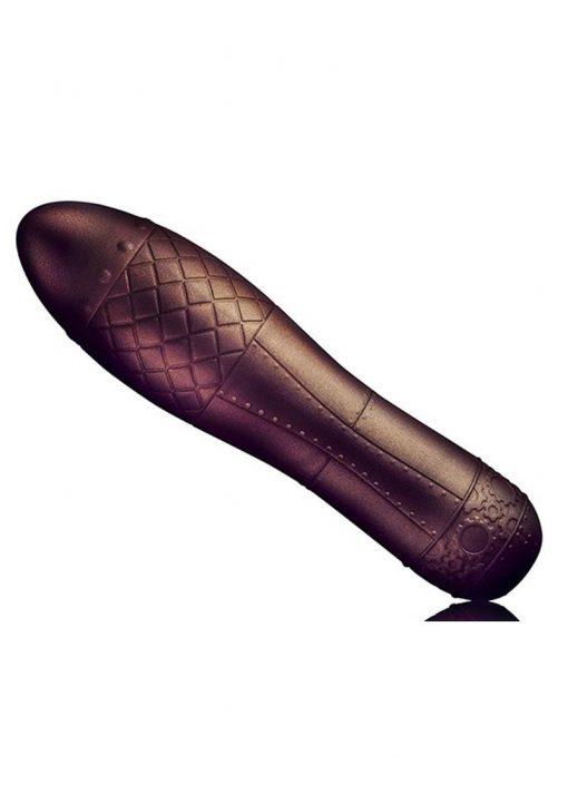 Dr. Rocco`s Pleasure Emporium Zeppelina Bronze Vibrator Textured Multi Function Waterproof