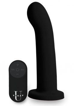 Strap U Secret G Dildo W/ Remote Control Silicone Waterproof USB Rechargeable Black