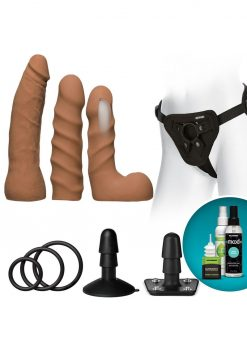 Vaculock Dual Dense Starter Set Carmel Dildo Set Harness Accessory