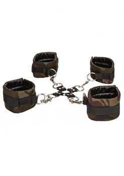 Colt Camo Hog Tie Adjustable Wrist and Ankle Cuffs Bondage