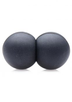 Master Series Sin Spheres Silicone Magnetic Balls Nipple Clamps