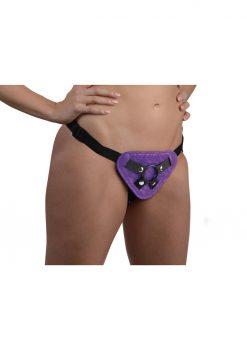 Strap U Burlesque Universal Corset Harness Purple