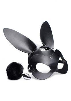 Tailz Bunny Tail Anal Plug and Mask Set Adjustable