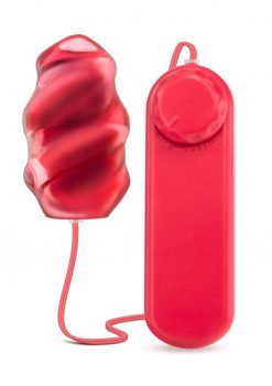 B Yours Twister Bullet Multi Speed Textured Waterproof  Red
