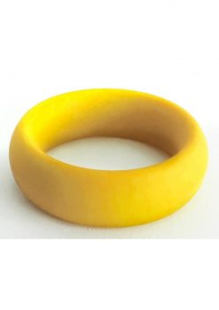 Bone Yard Meat Rack Beef Up Bulge Ring Silicone Cock Ring Yellow