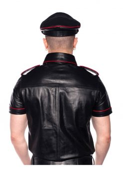Prowler Red Police Shirt Pipe Blk/red Xs