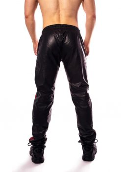 Prowler Red Leather Joggers Red Xl