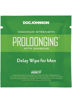 Proloonging With Ginseng Wipes 48/bag
