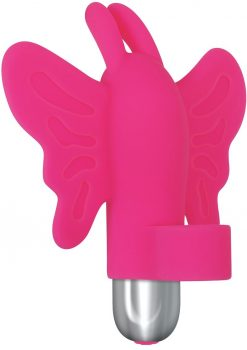 My Butterfly Multi Speed Finger Vibrator Silicone Waterproof Pink