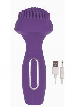 Devine Vibes Dual Wand Climaxer  Rechargeable Waterproof Purple