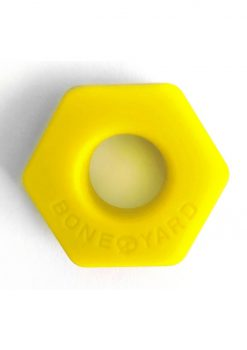 Bone Yard Bust A Nut Silicone Cock Ring Ball Stretcher Yellow