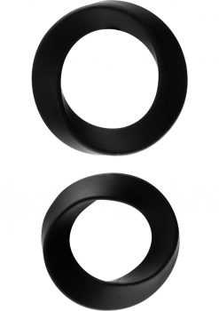 Rock Rings Hellfire 2 Silicone Cockrings Black