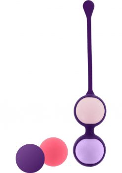 Rianne S Pussy Play Balls Silicone Kegal Balls With Coral Rose Bag