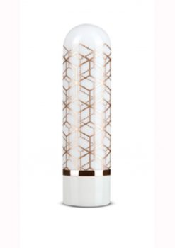 The Collection Glitzy Geo Rechargeable Bullet - Rose Gold