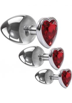 Aande Three Hearts Gem Anal Plug Kit