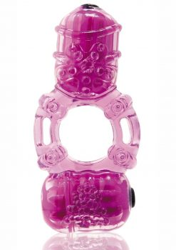 The Big O 2 Vibrating Double Ring - Purple