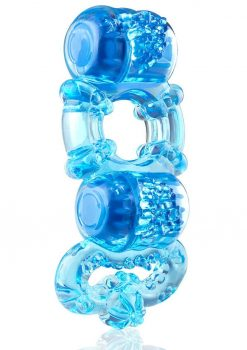 Tri-O Triple Pleasure Ring - Blue