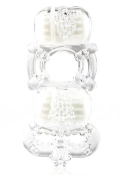 Tri-O Triple Pleasure Ring - Clear