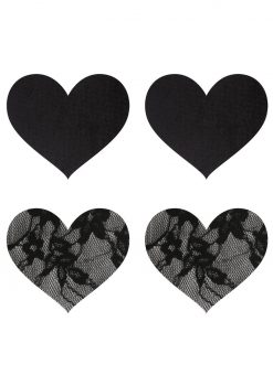 Satin And Lace Hearts Pasties