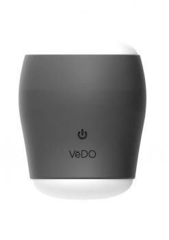 VeDO Grip Rechargeable Silicone Vibrating Sleeve - Just Black/Glow In The Dark