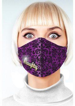 Super Sexy #Naughty Mask - Purple/Black